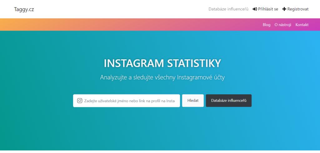 Taggy.cz - instagram štatistiky